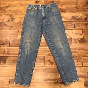 Vtg Big Label Tommy Hilfiger Jeans 34 x 32